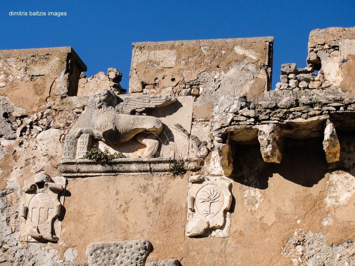 Ο Λέων στην είσοδο της Κάτω Χώρας Μυλοποτάμου / The Lion in the entrance of old city Kato Hora Mylopotamos