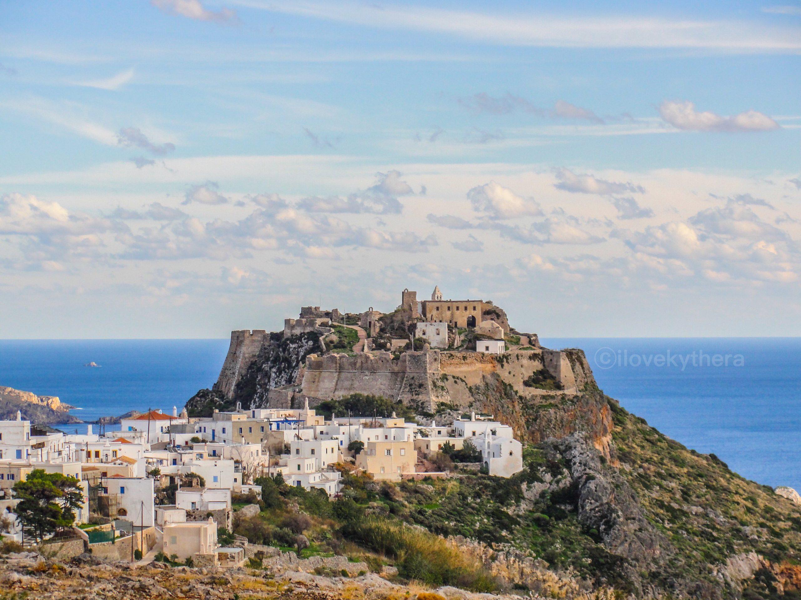 Η Χώρα των Κυθήρων και το Ενετικό κάστρο / Hora, the capital, and the Venetian castle