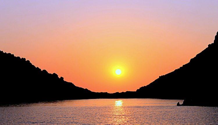 Ηλιοβασίλεμα στο Καψάλι / Sunset in Kapsali